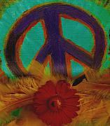 Acryl Framed Prints - Peace Every Day Framed Print by Pepita Selles