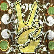 Peace Digital Art - Peace Fingers by Anthony Ross