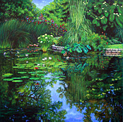 Water Lilies Paintings - Peace Floods my Soul by John Lautermilch