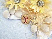 Gift Jewelry Originals - PEACE good luck stone by Melanie Bourne