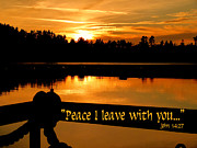 Cindy Wright Posters - Peace I Leave With You Poster by Cindy Wright