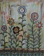 Folk  Paintings - Peace in the Garden by Rain Ririn