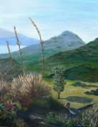 Roadrunner Paintings - Peace in the Valley by Linda Speaker