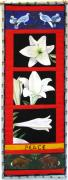 Quilt Tapestries - Textiles Prints - Peace Lilies Print by Grace Matthews