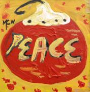 Expressionist Drawings - Peace by Mary Carol Williams