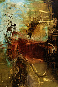 Rust Mixed Media Metal Prints - Peace of Mind Metal Print by Michel  Keck