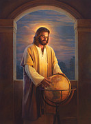 Savior Painting Prints - Peace on Earth Print by Greg Olsen