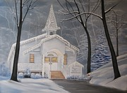 Smoky Mountains Paintings - Peace On Earth by RJ McNall