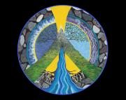 Portal Painting Framed Prints - Peace Portal Framed Print by Tree Whisper Art - DLynneS
