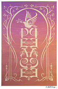 Peace Mixed Media Posters - Peace Reflectograph Poster by Cristina McAllister