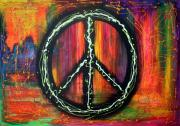 Freedom Mixed Media - Peace Sign by Laura Barbosa