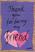Thank You Originals - Peace Tablet Thank you for being my friend by Lourdes  SIMON