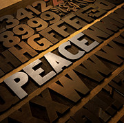 Alphabet Digital Art Prints - Peace Print by Tony Ramos