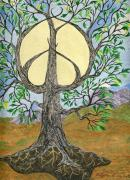 Peace Symbol Prints - Peace Tree of Life Print by Tree Whisper Art - DLynneS