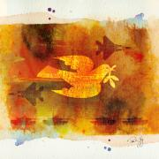 Peace Dove Mixed Media - Peace War Peace War by Paul Gaj