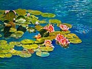 Water Lilies Paintings - Peaceful Belonging by Michael Durst