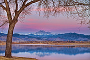Boulder County Photos - Peaceful Early Morning First Light Longs Peak View by James Bo Insogna