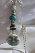 Silver Turquoise Jewelry - Peaceful Earth Buddha Necklace by Janet  Telander