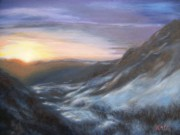 Mountain Climbing Paintings - Peaceful Earth by Rose Mary Gates