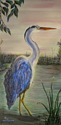 Sharon Tabor - Peaceful Heron at Dawn