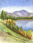 Lakes Mixed Media - Peaceful Lake by Arline Wagner