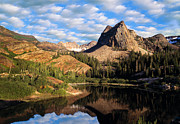 Blanche Framed Prints - Peaceful Mountain Lake Framed Print by Utah Images