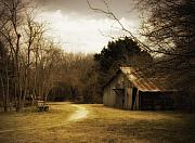 Old House Photos - Peaceful Old Barn by Iris Greenwell