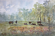 Wisconsin Landscape  Painting Originals - Peaceful Pasture by Ryan Radke