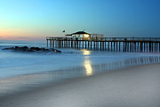 Fishing Pier Prints - Peaceful Pier Print by Jeff Bord