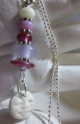 Ball Jewelry - Peaceful Pink Buddha Necklace by Janet  Telander