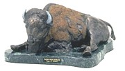 Wildlife Sculpture Originals - Peaceful Prairie Matriarch by Peggy Detmers