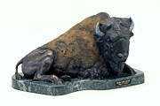 Bison Sculpture Originals - Peaceful Prairie Patriarch by Peggy Detmers