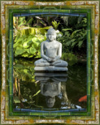 Contemplative Metal Prints - Peaceful Reflection Metal Print by Bell And Todd