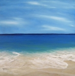 Alabama Painting Posters - Peaceful Sands Poster by JoAnn Wheeler