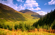 Joyful Posters - Peaceful Sunny Day in Mountains. Rest and Be Thankful. Scotland Poster by Jenny Rainbow