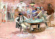 Rodeo Art Painting Posters - Peaceful Valley Saloon by Charles Marion Russell Poster by Pg Reproductions
