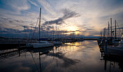 Puget Sound Art - Peaceful Water by Mike Reid