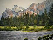 National Painting Posters - Peaceful Yosemite Poster by Shirley Braithwaite Hunt