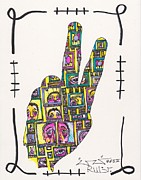 Faces Drawings - PEACE...Outside Looking In by Robert Wolverton Jr