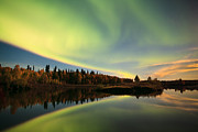 Northernlights Framed Prints - Peacful Evening Framed Print by Ronald Lafleur