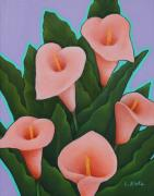Peach Originals - Peach Callas by Lorraine Klotz