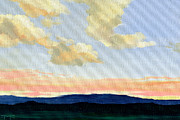 East Tennessee Paintings - Peach Clouds by Mark Froehlich