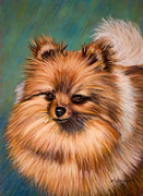 Cute Dogs Pastels - Peaches and Cream by Michelle Wrighton