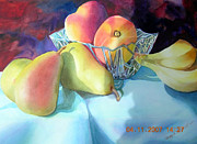 Peaches And Pears Print by Dorothy Koliba