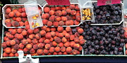 Fruit Stand Photos - Peaches and Plums - 5D17913 by Wingsdomain Art and Photography