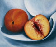 Peaches Print by Dinny Madill