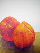 Peaches Print by Jessica Grace Leahy