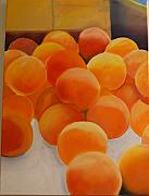 Peaches Painting Prints - Peaches Print by Kcatia Creole Art