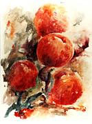 Peaches Print by Rachel Christine Nowicki
