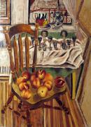 Interior Still Life Painting Metal Prints - Peaches Metal Print by Vladimir Kezerashvili